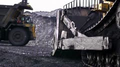 Stock video footage heavy Machinery in mine Stock Footage