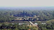 Stock Video Footage of Landscape of Angkor wat seen from Hot Balloon