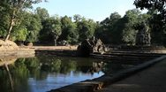 Neak Pean, Angkor Temple above pond Stock Footage