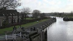 old lock duch waterways - stock footage