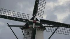Windmill - Dutch windmill close up - stock footage