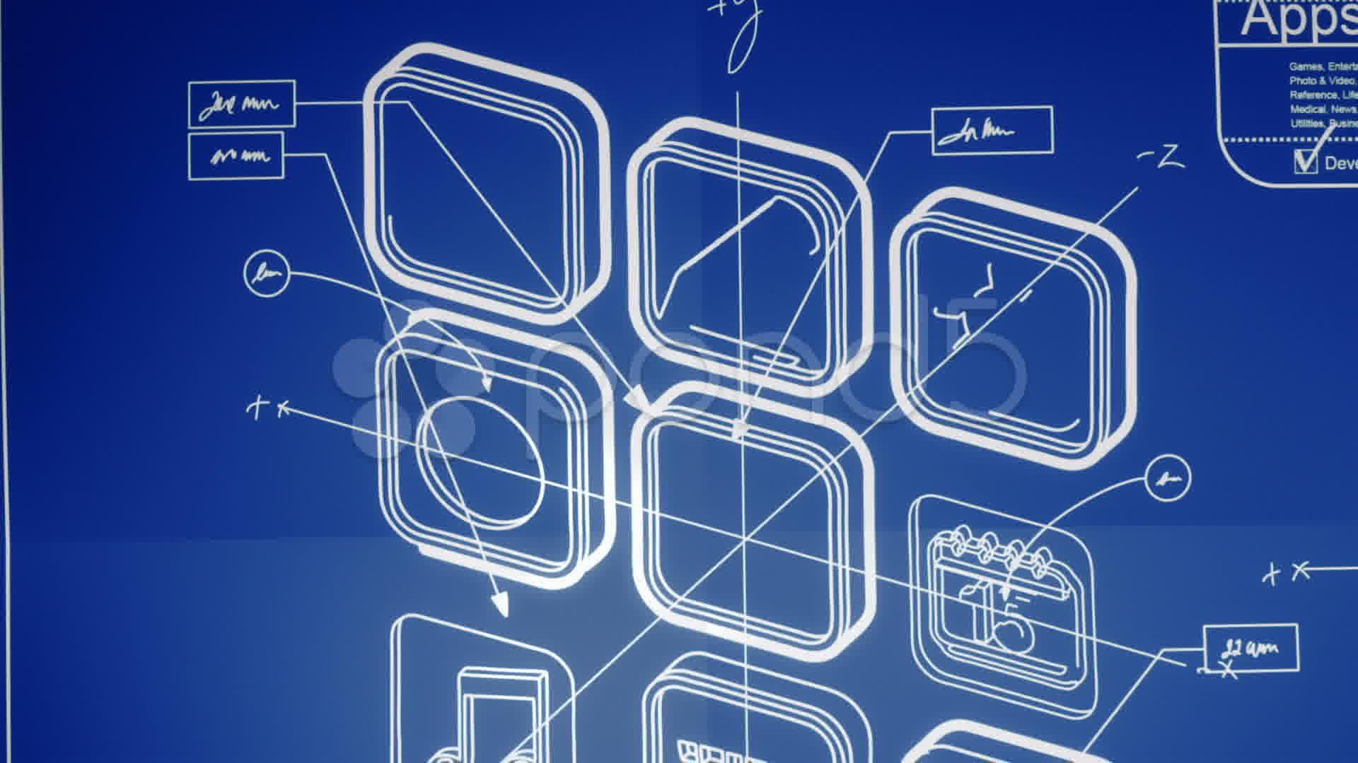 Mobile app development blueprint concept video 010597915 for App for blueprints