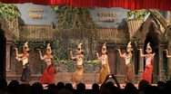 Traditional Cambodian apsara dance Stock Footage