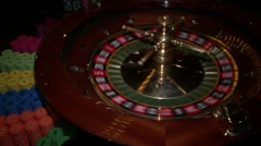 Playing roulette in a casino Stock Footage