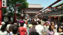 Anonym Crowd Asakusa Tokyo SlowMotion 60fps 14 Stock Footage