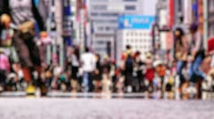 Anonym Crowd Ginza Tokyo SlowMotion 60fps 09 Stock Footage