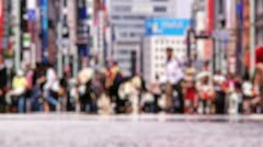 Anonym Crowd Ginza Tokyo SlowMotion 60fps 10 Stock Footage