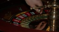 Stock Video Footage of Roulette table close in casino