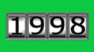 1998 on billboard Stock Footage