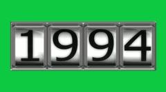 1994 on billboard Stock Footage