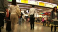 Anonym Crowd Tokyo Subway SlowMotion 60fps 17 Stock Footage