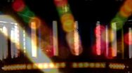 Surreal Canival Lights at Night Double Exposure Stock Footage