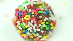 Chocolate Ball Cookie Stock Footage