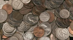 American Coins ccw 1 Stock Footage