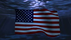USA underwater background for negative image footage - stock footage
