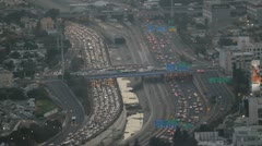 Tel Aviv day view traffic 9 Stock Footage