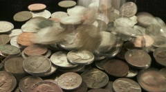 American Coins drop 1 Stock Footage