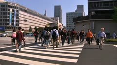 Crowd Tokyo SlowMotion 60fps 04 - stock footage