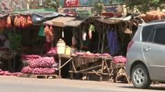 Road side market 2 Stock Footage