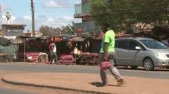 Road side market Stock Footage