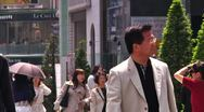 Stock Video Footage of Crowd Tokyo SlowMotion 60fps 21
