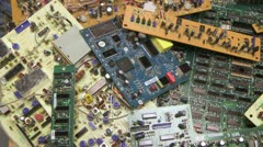 Electronic Recycle 1 Stock Footage