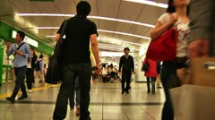Crowd Tokyo Subway SlowMotion 60fps 20 Stock Footage