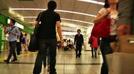 Stock Video Footage of Crowd Tokyo Subway SlowMotion 60fps 20
