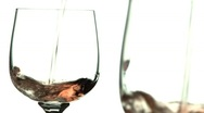White wine pour seeing double; 2 Stock Footage