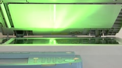 Business Copier Stock Footage