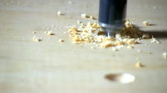 Drilling a hole; 2 Stock Footage