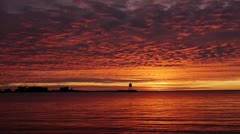 Grand Marais Harbor Sunrise Stock Footage
