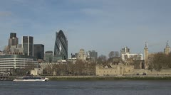 Timelapse of Tower of London emblem touristic place icon Stock Footage