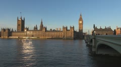 Timelapse of London Parliament Building and Big Ben Stock Footage