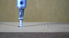 Remove two screws Stock Footage