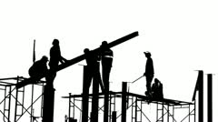 Black and white builders - stock footage