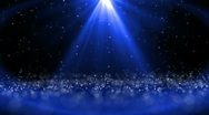 Blue Sparkling Rays Stock Footage