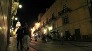 Stock Video Footage of Mexico Street By Night