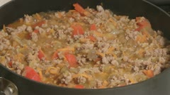 Meat ragout. - stock footage