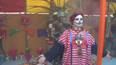 mexican voodoo cleansing ritual - stock footage