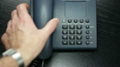 Office business phone Stock Footage