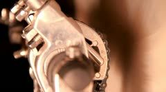 Bass drum double pedal mechanism - stock footage