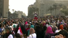 youth of Tahrir square - stock footage