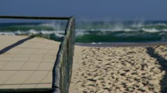 Beach Entrance to Kirra Beach Stock Footage