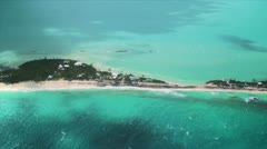 Aerial over Private Beaches Stock Footage