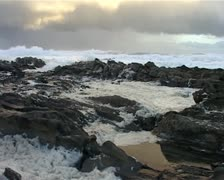 White frothy Ocean in the Eastern Cape, South Africa GFSD - stock footage