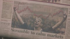 'Scramble to Calm Markets' - Financial Times - March 19th, 2008 Stock Footage