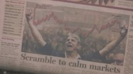 Stock Video Footage of 'Scramble to Calm Markets' - Financial Times - March 19th, 2008