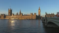 London Parliament Building and Big Ben Stock Footage