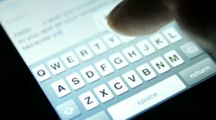Smartphone TextingTyping Message 2 Stock Footage